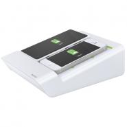 Duo-încărcător de birou Complete pentru 2 smartphone-uri sau o tabletă PC, alb