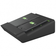 Duo-încărcător de birou Complete pentru 2 smartphone-uri sau o tabletă PC, negru