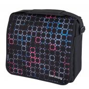 Geanta de umăr messenger Be.Bag, dimensiune 38x34x12,5 cm motiv Squares