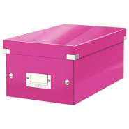 Cutie pentru DVD-uri Click & Store, roz