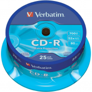 CD-R VERBATIM 52*700MB 25BUC/BULK