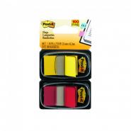 Post-it Index Clasic 25,4*43,7mm 50 file, 2 bucati/pachet rosu/galben