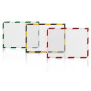 Folie magnetica MGN rama alb/rosu, A4, 5 buc/set