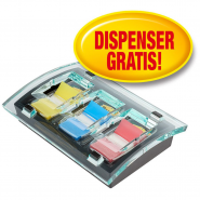 Dispenser Millenium Post-it® Index,3*Index Clasic Post-it®, 50 file/culoare