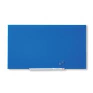 Tablă magnetică din sticlă Nobo Diamond 993 x 559 mm albastra