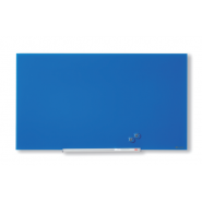 Tablă magnetică din sticlă Nobo Diamond 1883 x 1059 mm albastra