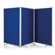Panou prezentare MGN mobil PLIABIL, 3*1200x1800x370 mm (3610*1800*370), albastru
