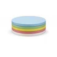 Carduri comunicare MGN adezive rotunde Ø 95 mm, 250 buc/set, 5 culori asortate