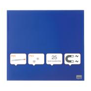 Tabla NOBO Diamond magnetica din sticla, 300x300mm, albastru (include 1 marker si 2 magneti) - Pachet RETAIL