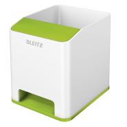 Suport instrumente de scris Leitz WOW cu amplificare sunet, culori duale verde