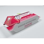 Servetele antibacteriene dezinfectante pe baza de alcool Dr Wipes 72 buc/pachet