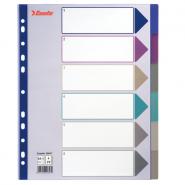 Separatoare A4 Maxi din plastic, 1-6