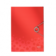 Mapa plastic Bebop cu elastic, rosu
