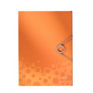 Mapa plastic Bebop cu elastic, portocaliu