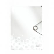 Mapa plastic Bebop cu elastic, alb