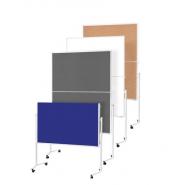 Panou prezentare MGN mobil PLIABIL 1200 x 1500 mm, rama alba, dubla fata albastra