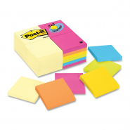 Notite adezive Post-it neon, 76*76 mm, orange, 100 file/buc
