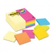 Notite adezive Post-it neon, 76*76 mm, galben, 100 file/buc