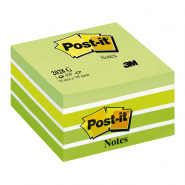 Notite adezive Post-it cub, 76*76 mm, pastel verde, 450 file/buc