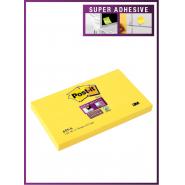 Notite adezive Post-it Super Sticky, 76*127 mm, galben, 90 file/buc