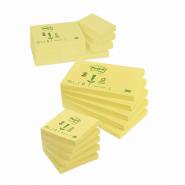 Notite adezive Post-it reciclate 100%, 76*127 mm, culoare galben, 100 file/buc