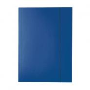 Mapa Economy din carton cu elastic, albastru închis