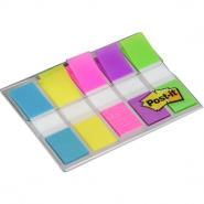 Post-it Index Mini, 5 culori, 20 file/culoare