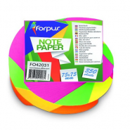 POST-IT 75*75MM NEON TWISTED 350 COLI FORPUS