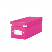 Cutie pentru CD-uri Click & Store, roz