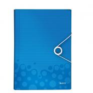 Mapă tip Proiect Leitz WOW, PP, albastru metalizat