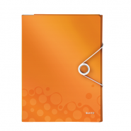 Mapă pentru conferințe Leitz WOW, PP, portocaliu metalizat