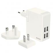 Încărcător Leitz Complete Traveller USB pentru perete, 24W, alb